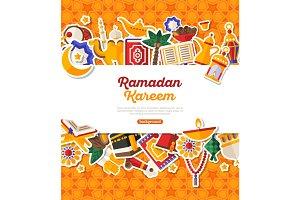 Ramadan Kareem Banner With Horizontal Frame