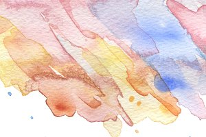 watercolor brush strokes painting