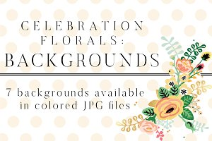 Celebration Florals Backgrounds