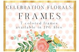 Celebration Florals Frames