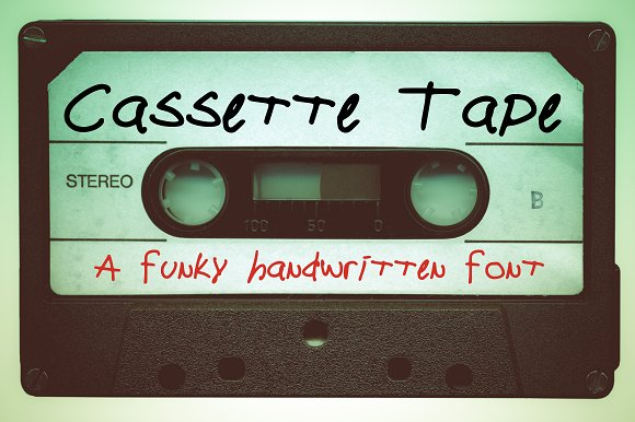 Cassette Tape A Funky Font