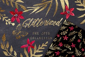 GLITTERIZED clipart & pattern 2