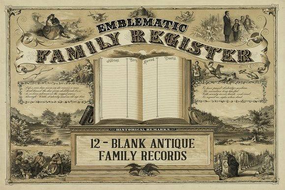 Antique Family Records Blank