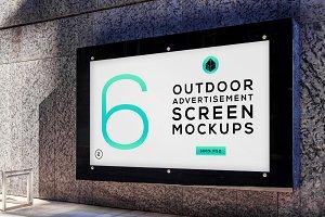 Outdoor Advertising Screen MockUps 5