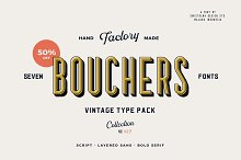 Bouchers Type Collection 50%+20% OFF