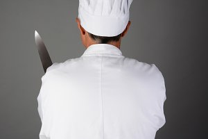 Chef Holding Knife