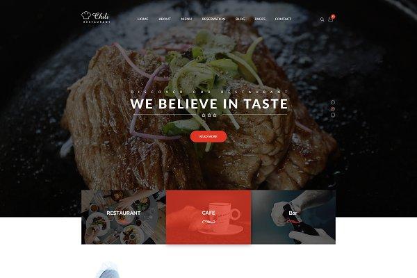 Chili - Restaurant WordPress Theme