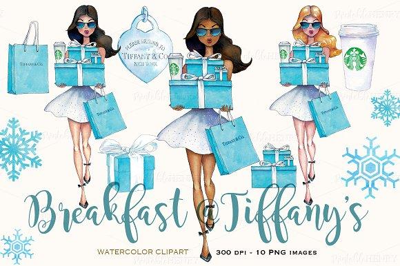 Breakfast at Tiffany's clipart