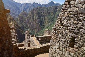Inca ancient Machu Picchu town
