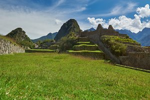 Machu picchu landscape in Peru