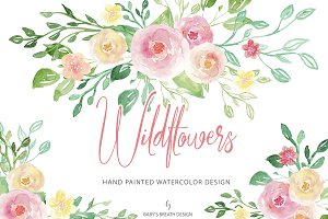 Watercolor Wildflowers design