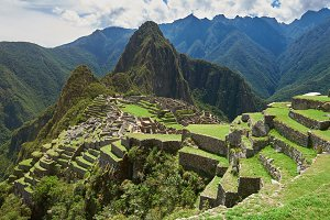 Machu Picchu green terraces