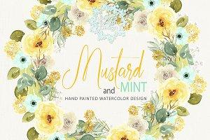 Mustars mint wreaths