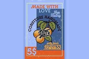 Color vintage confiture banner