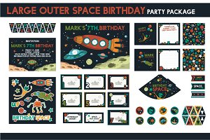 Space Birthday Party Package Set