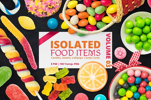 Free Isolated Food Items Vol.3