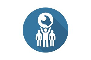 Service Support Icon. Flat Design.