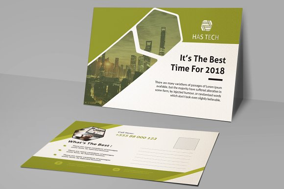 Post Card in Card Templates - product preview 1