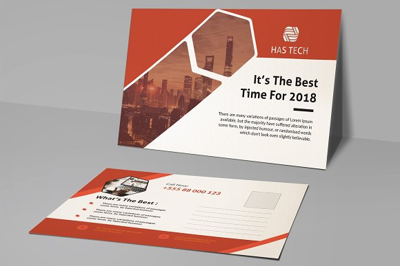 Post Card in Postcard Templates - product preview 2