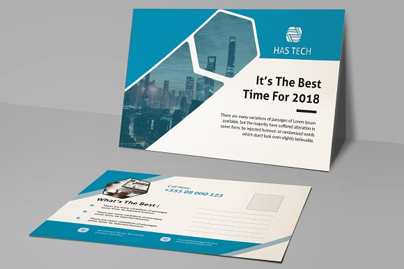 Post Card in Card Templates - product preview 3