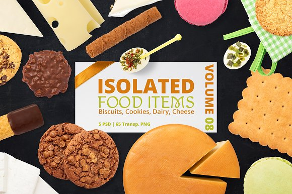 Free Isolated Food Items Vol.8