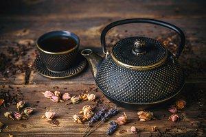 Asian iron tea pot