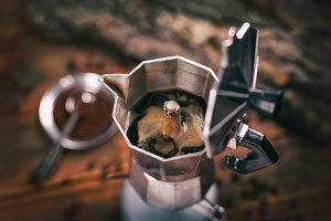 Italian traditional coffee maker