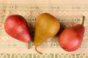 Three Pears Closeup