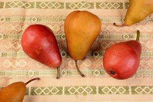 Pears on Table Cloth