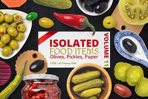 Isolated Food Items Vol.11