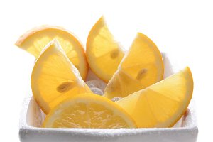 Bowl of Cut Lemons