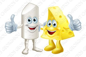 Chalk and cheese friends