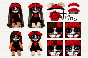 ♥ vector Catrina girls 2