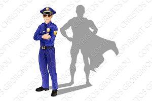 Superhero policeman