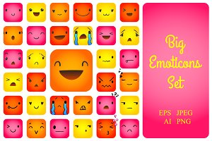 Big Emoticon Set