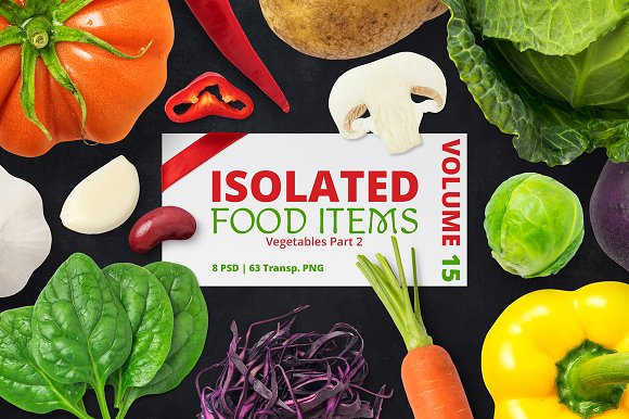 Free Isolated Food Items Vol.15