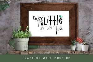 Rustic Cactus Garden Frame Mock Up