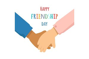 Happy Friendship Day Promotin Poster Illustration