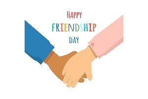Happy Friendship Day Promotin Poster Illustration