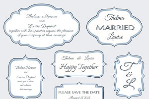 Frames for wedding invitation cards