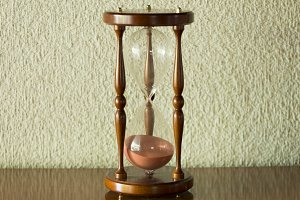 A large hourglass