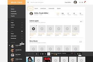 MusicGiant - Admin PSD Template