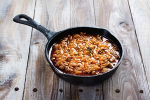 Italian bolognese sauce for lasagne or pasta