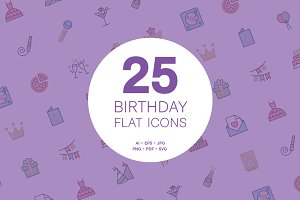 Birthday Party Flat Icons