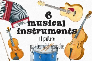 Musical instruments+Pattern