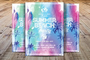 Summer Break Party Flyer Template
