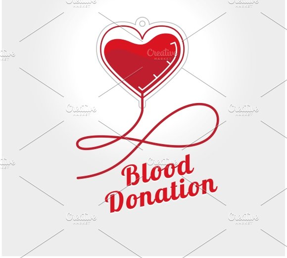Donate blood logo icons creative market for Blood bank planning and designing