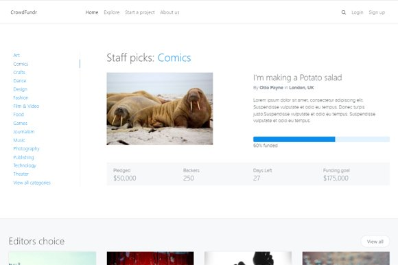 Bootstrap Crowdfunding Template