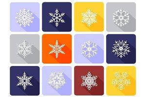 Snowflake flat icons