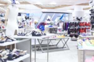 Abstract blur Shoe shop luxury shopping mall for Background